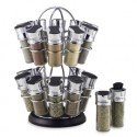 Gift List - Spice Racks - Olde Thompson Flower Style 20-Jar Stainless