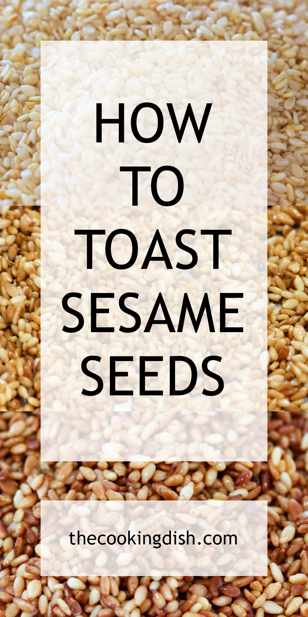 Who knew that toasting sesame seeds was this easy? Simple instructions with pictures.