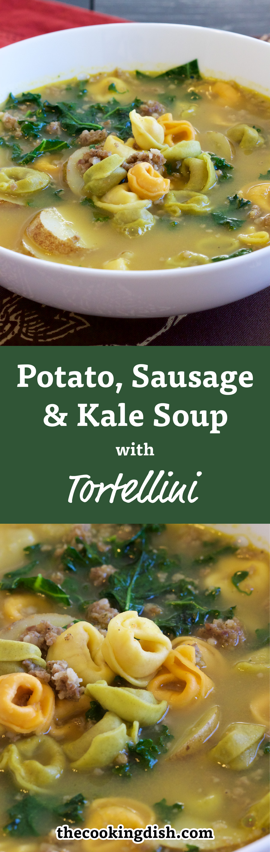 Have you tried this? Sausage, Potato, Kale Soup with Tortellini is perfect for winter. It keeps you warm and tastes so good. Enough for leftovers or lunches.