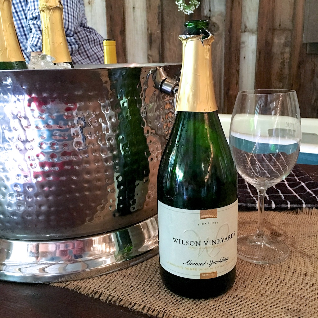 Almond Sparkling Wine from Wilson Vineyards